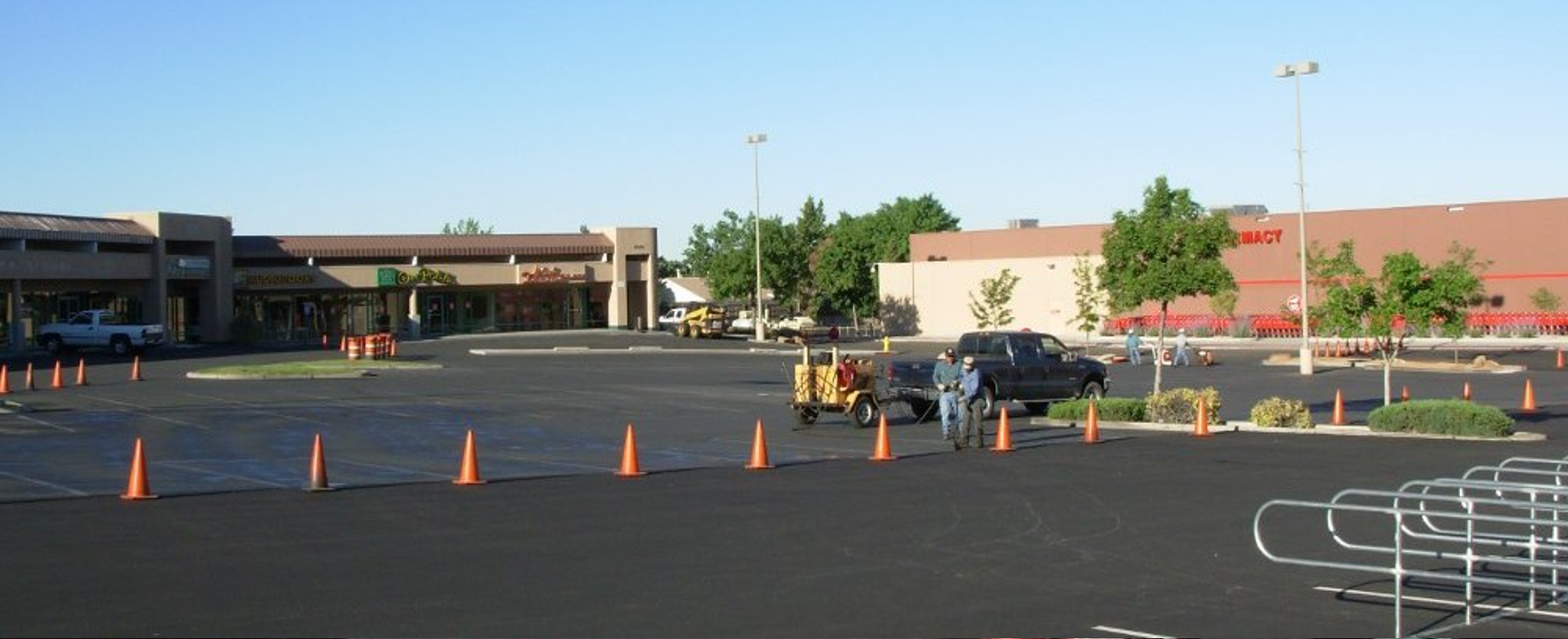 applying a new layer of asphalt