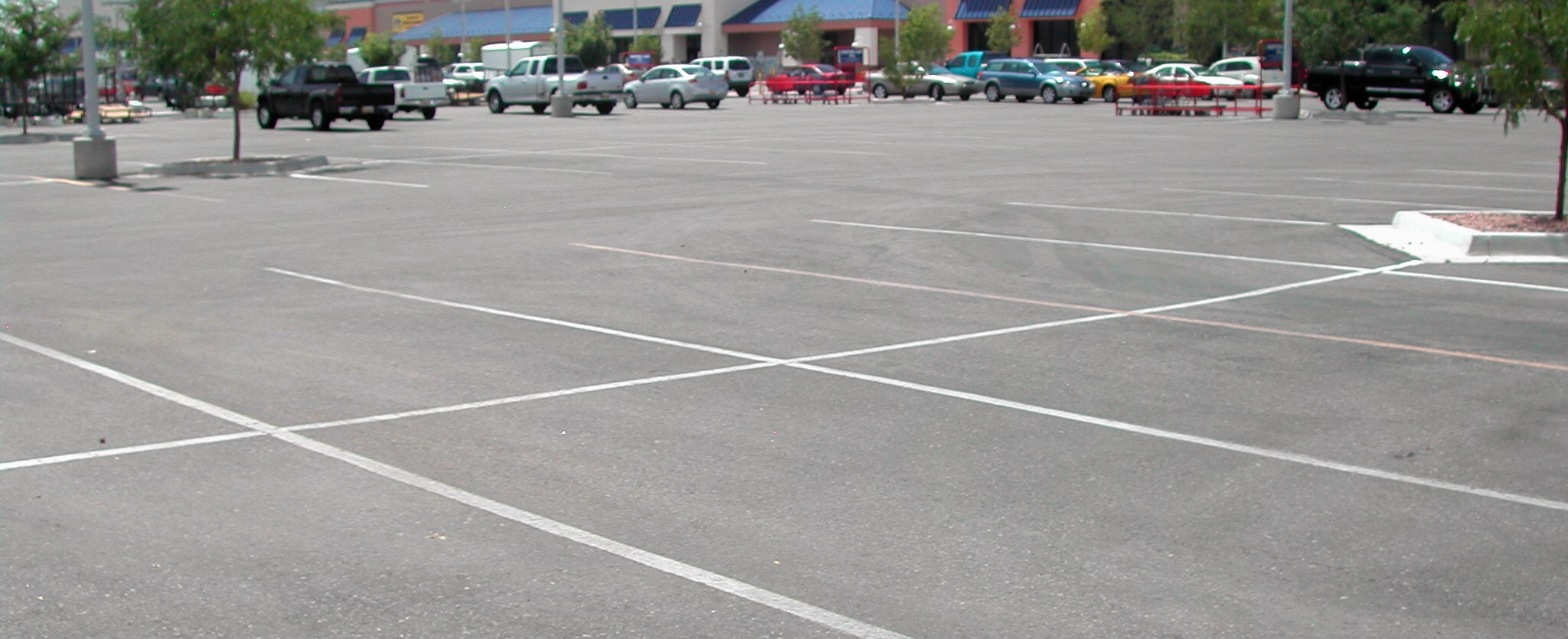 parking lot seal coating before